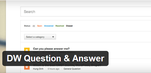 dw question answer criar forum wordpress