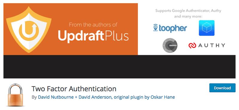 autenticação de dois fatores plugin