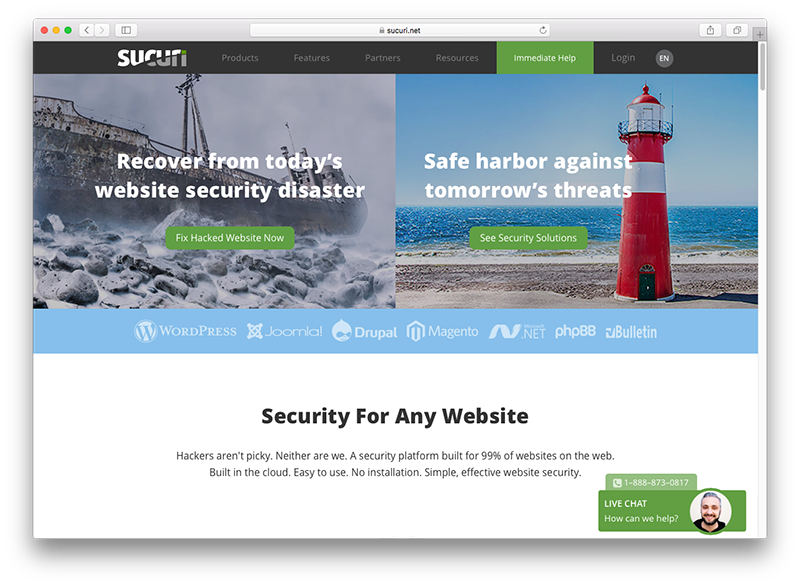 sucuri proteção wordpress blog