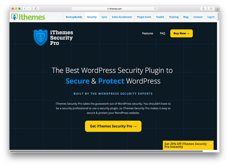 iThemes Security plugin wordpress